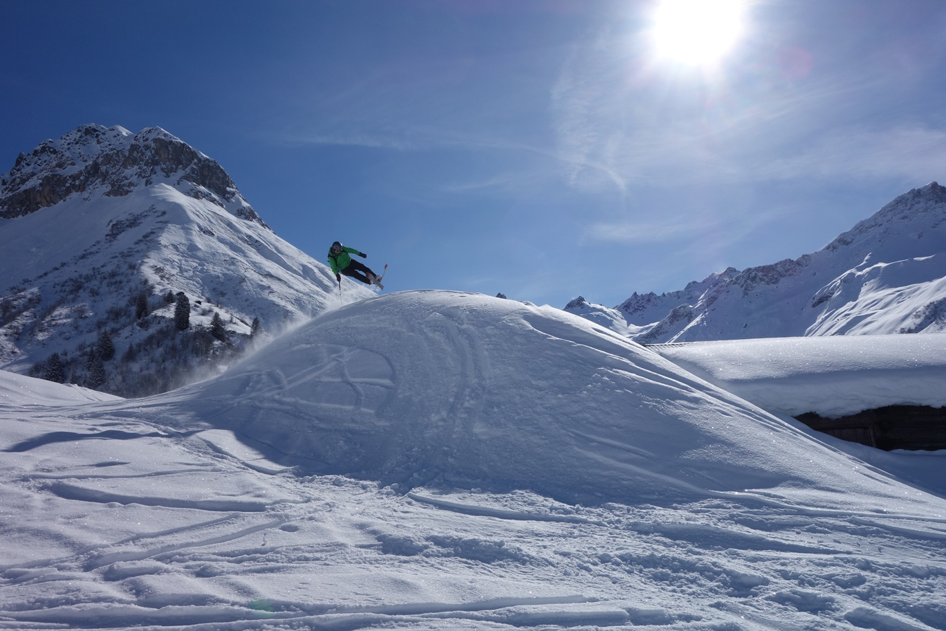 Permalink auf:Madrisa Rundtour im Montafon- Skiride in die Schweiz und zurück