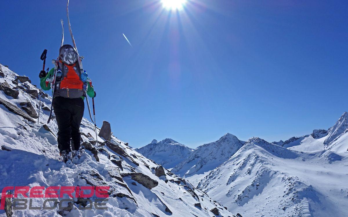 Aufstieg zum Daunkopf direkt aus dem Skigebiet Stubaier Gletscher