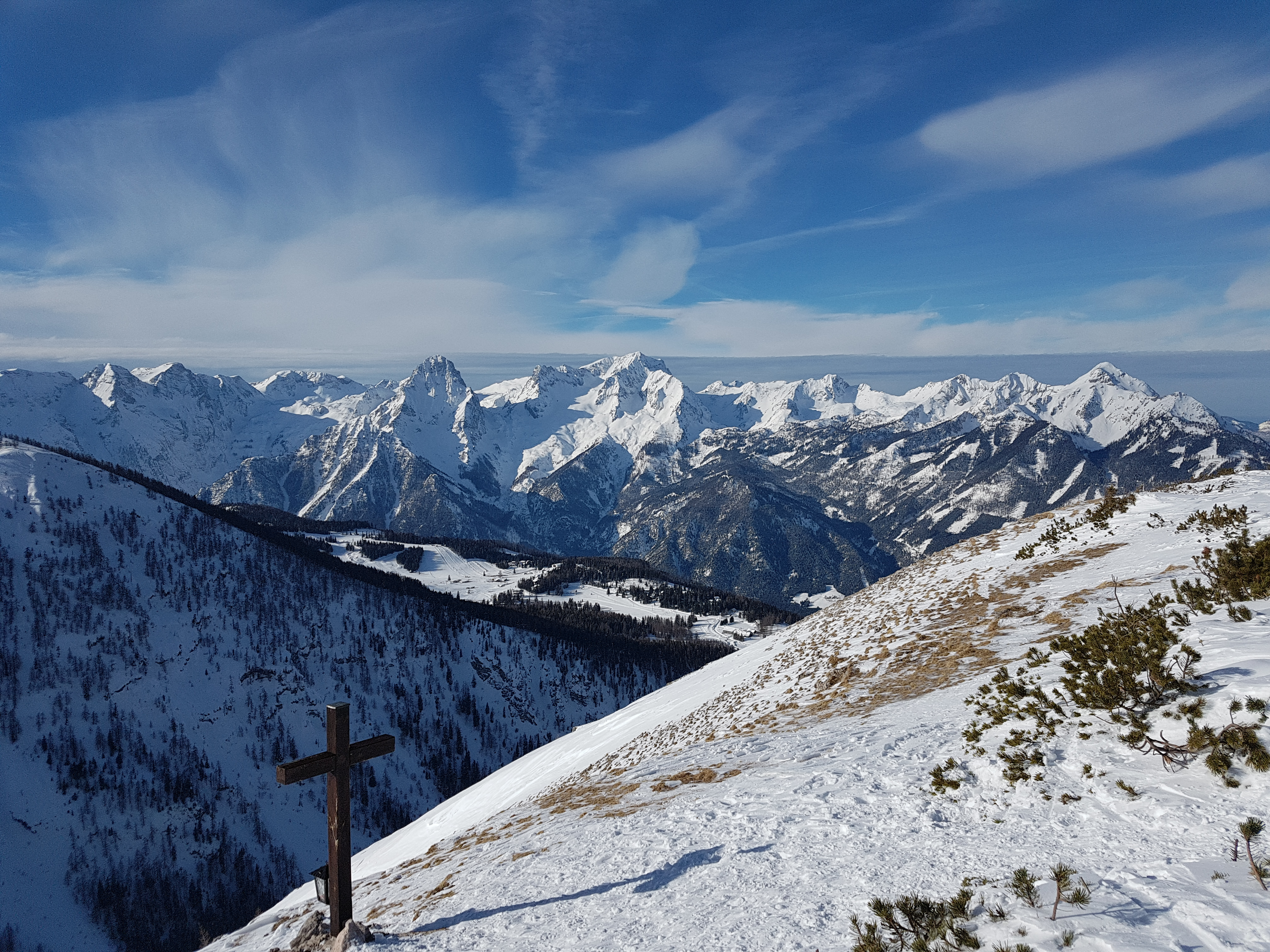 Blick vom Gipfel ins Stodertal